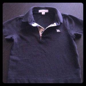 Burberry Navy Blue boys collared shirt